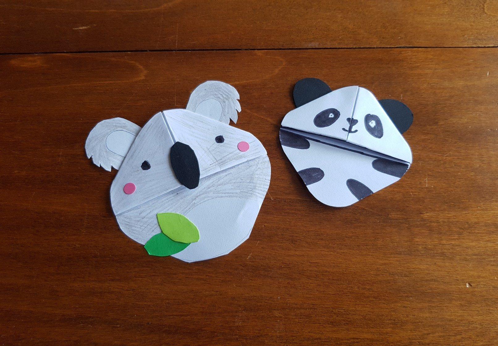 corner bookmark koala panda