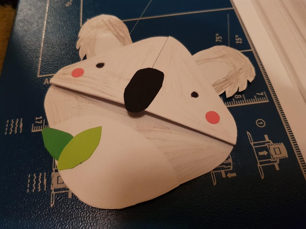 corner bookmark koala ready