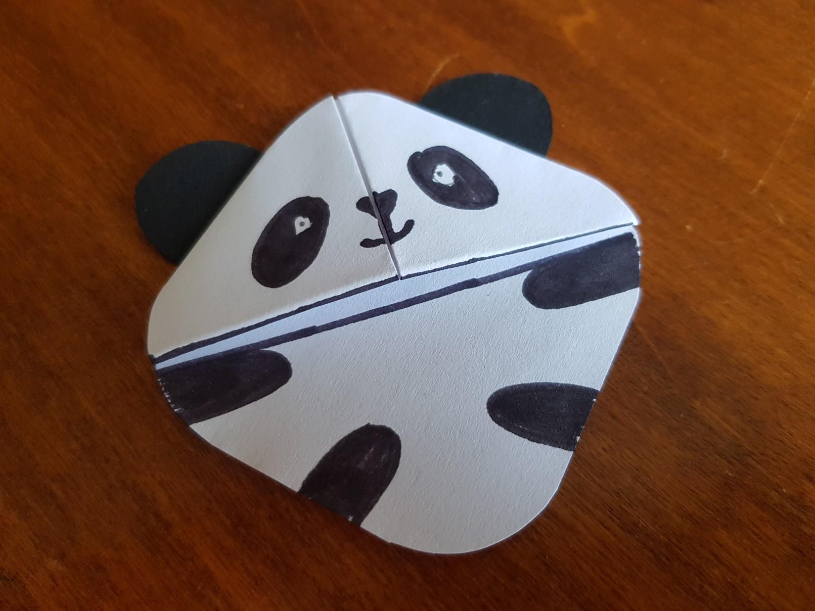 corner bookmark panda ready