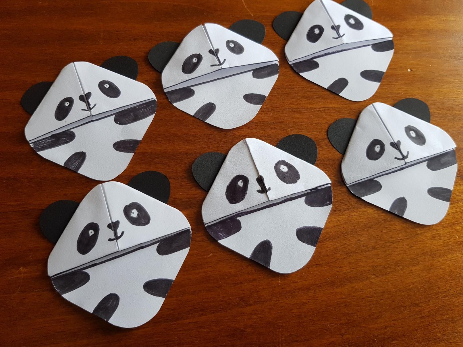corner bookmark pandas group