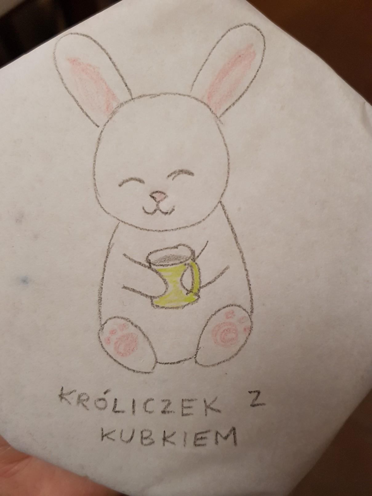 lunchbox art bunny mug