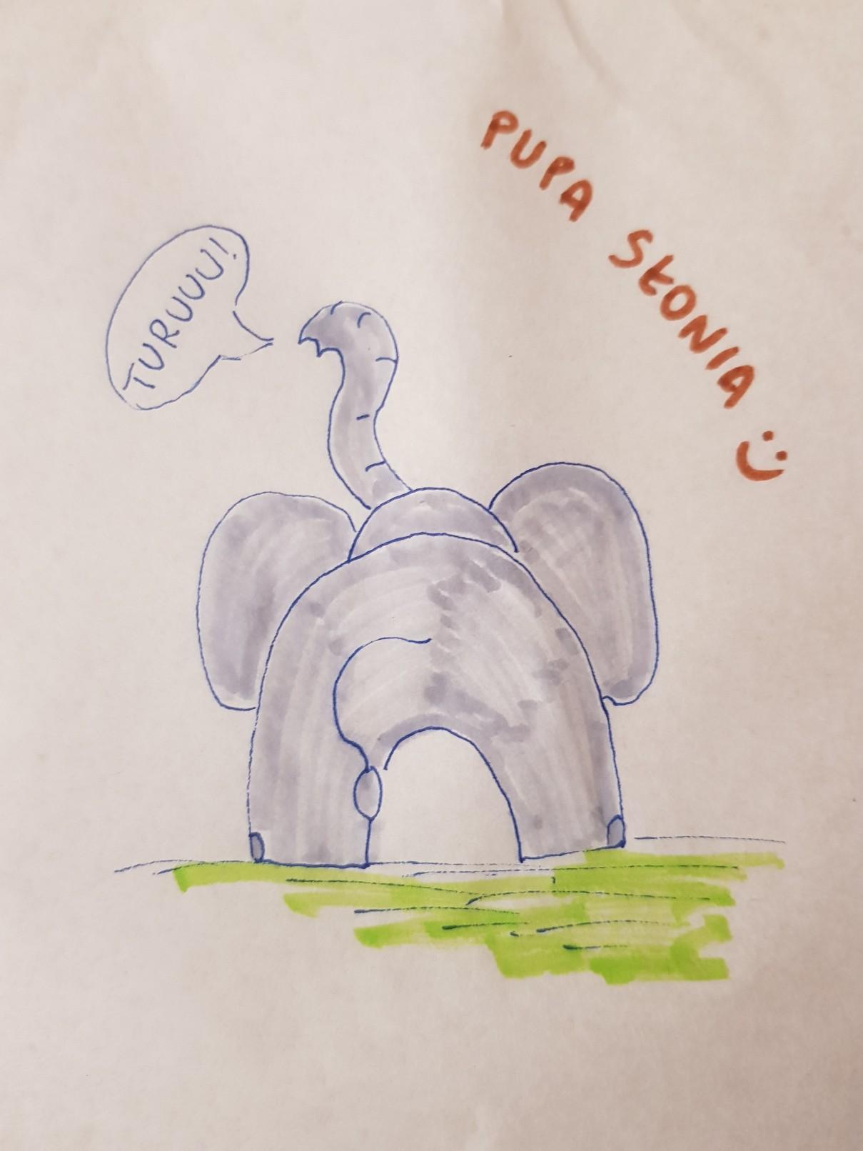 lunchbox art elephant behind