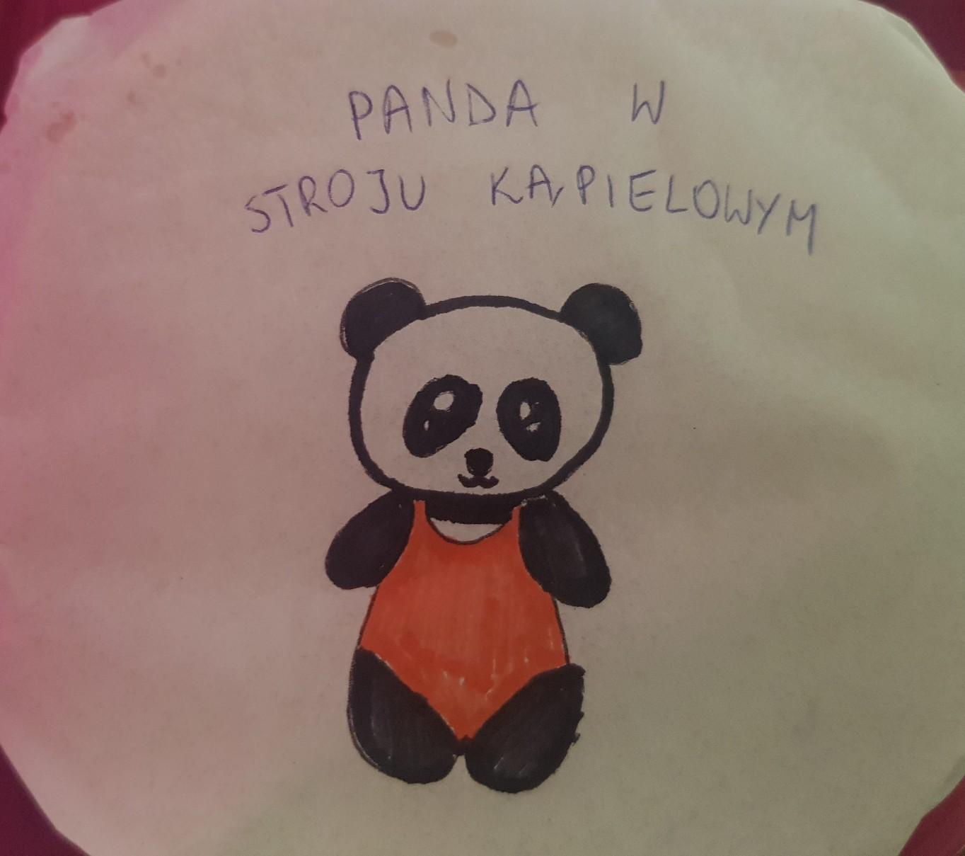 lunchbox art panda bathing suit