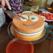 nemo birthday cake cutting