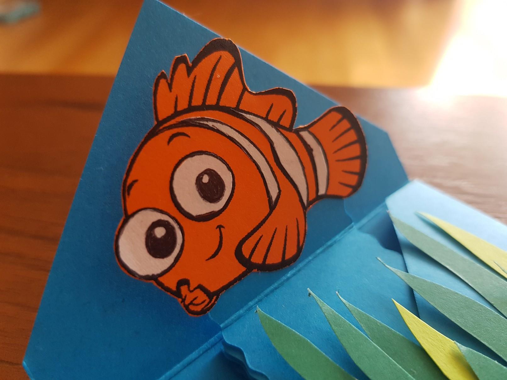 nemo birthday invitation fish detail