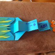 nemo birthday invitation shown opened