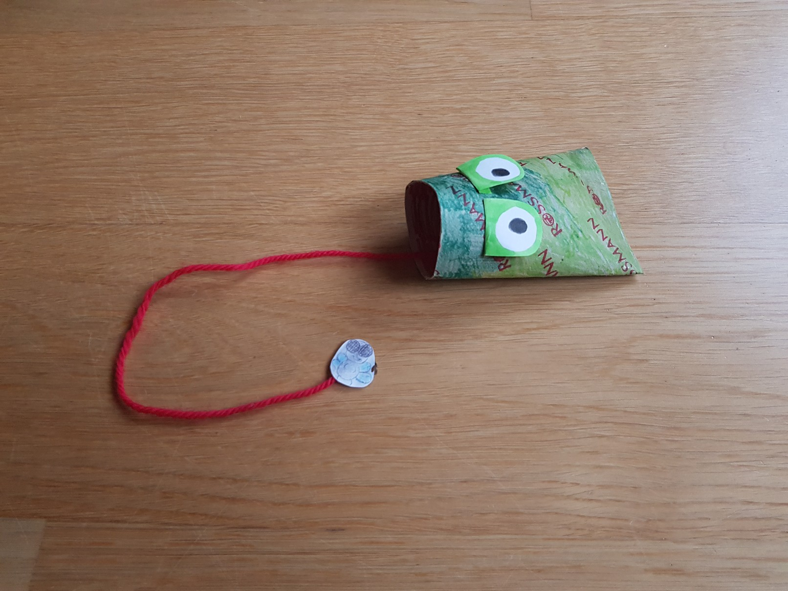 paper roll frog catching fly