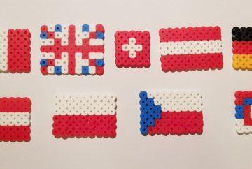 hama beads flags