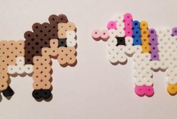 hama beads pony unicorn