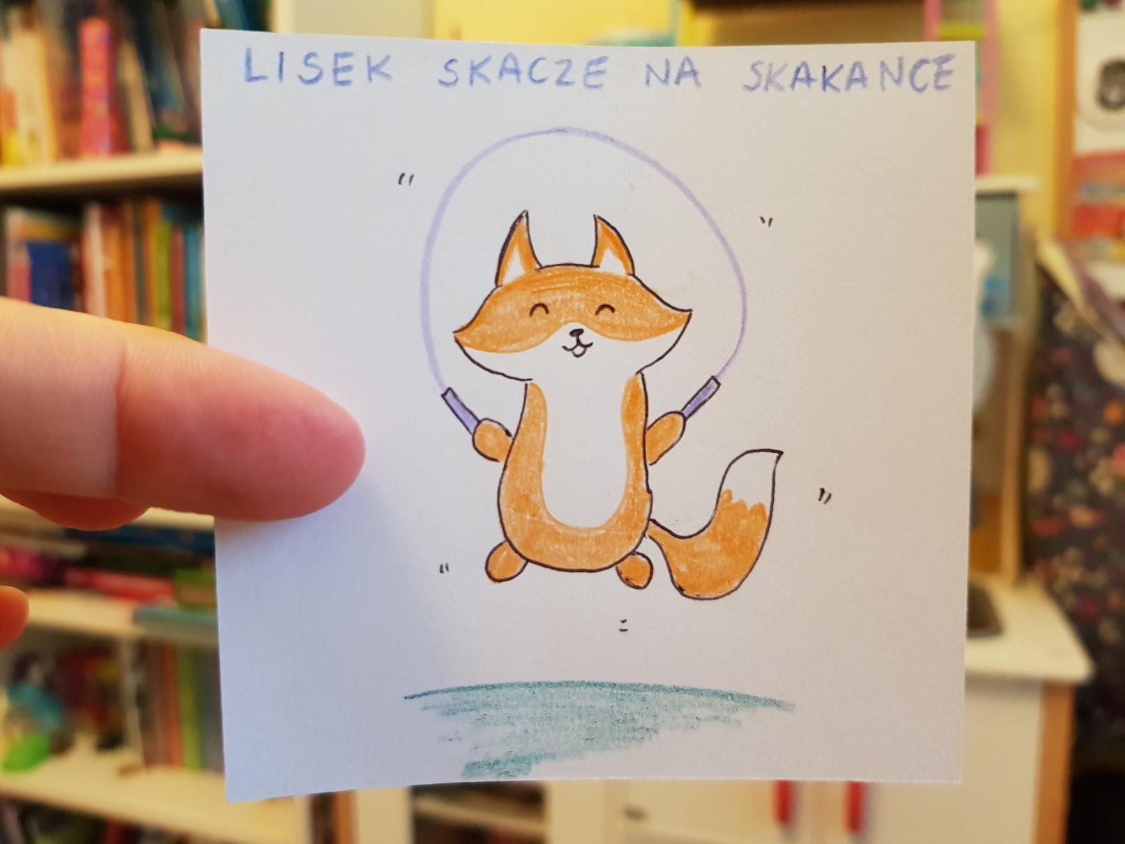 lunchbox art fox jumping