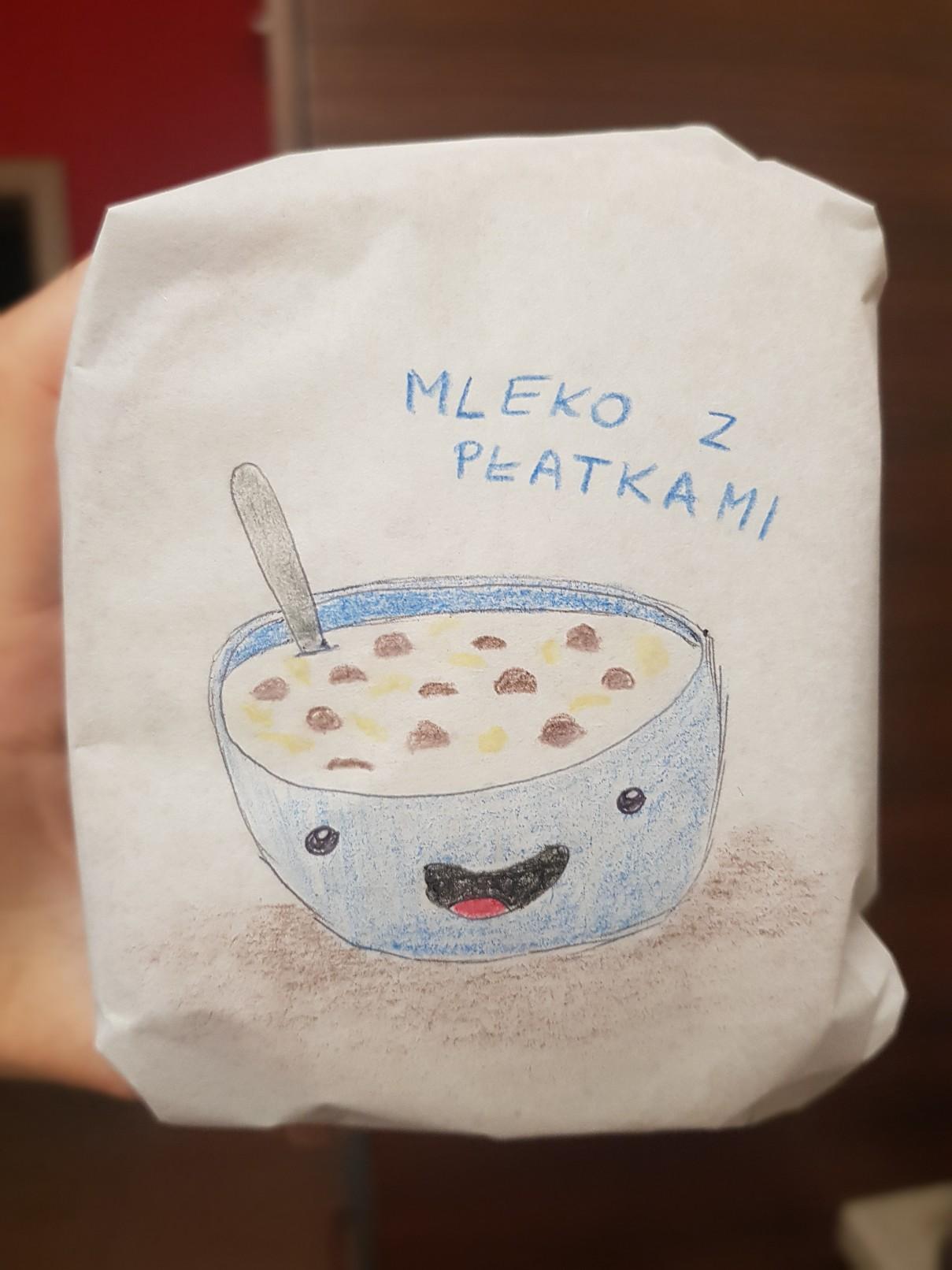 lunchbox art milk cereal