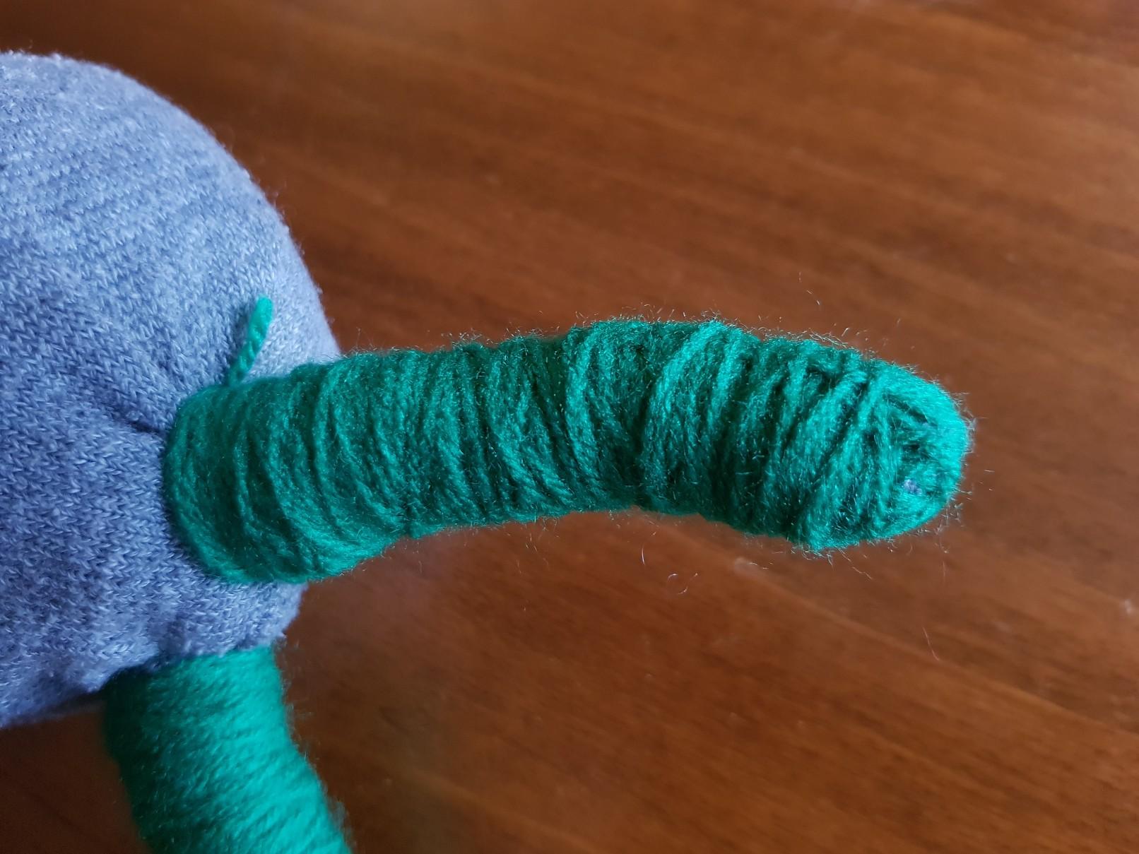 sweet sock monster horn closeup
