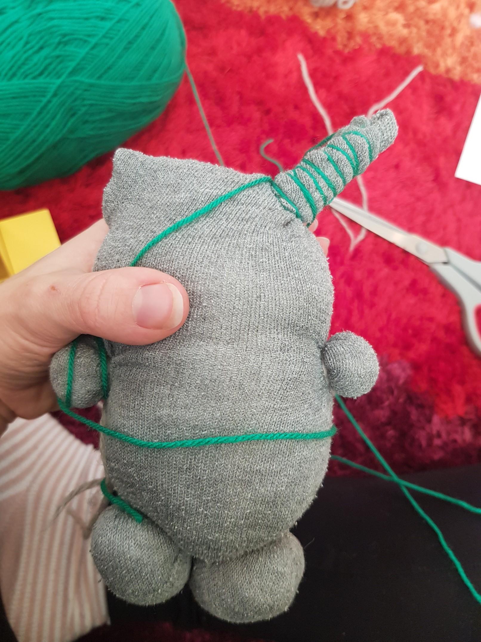 sweet sock monster left horn
