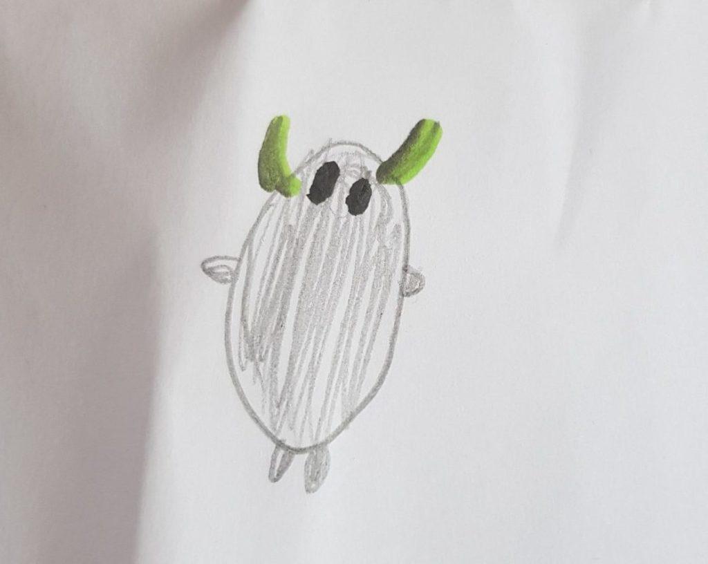 sweet sock monster sketch