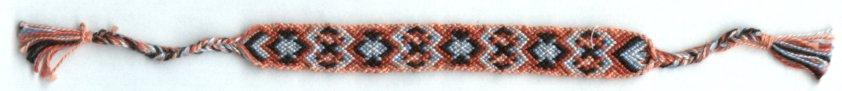 friendship bracelet salmon pattern for grandma
