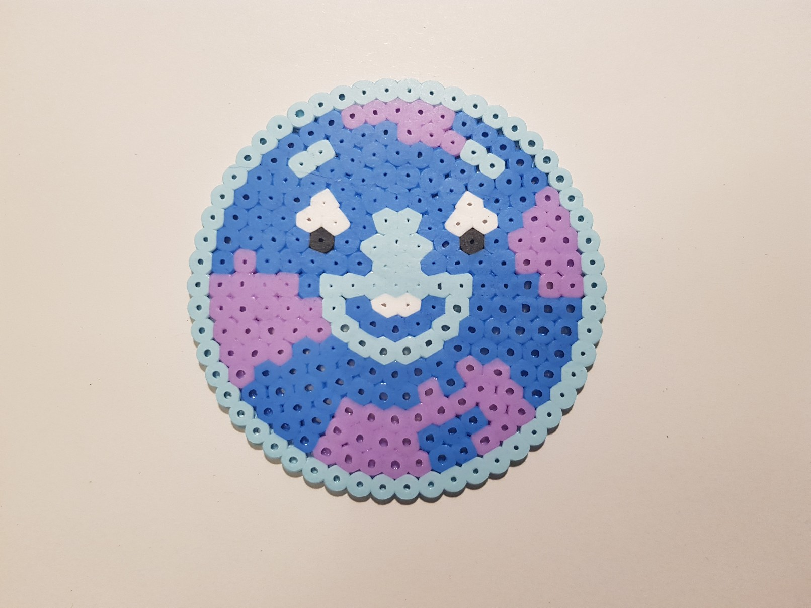 hama beads super monsters moon mosaic