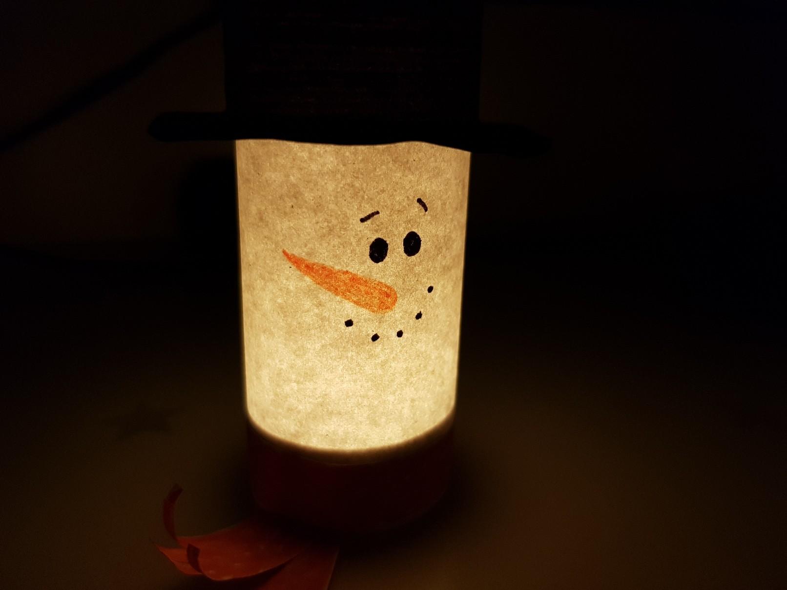 snowman paper luminary featured