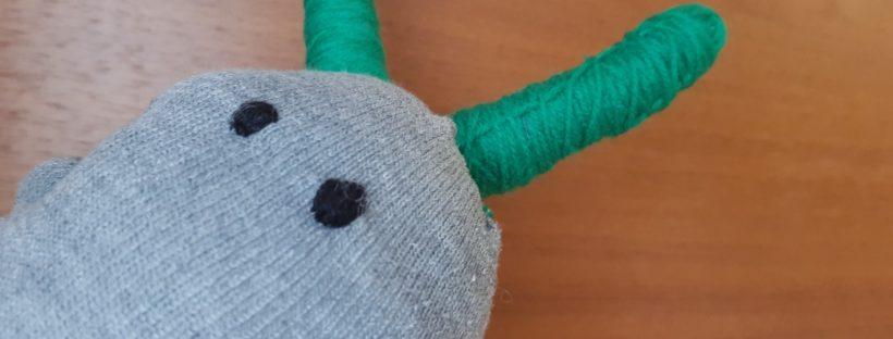 sweet sock monster face