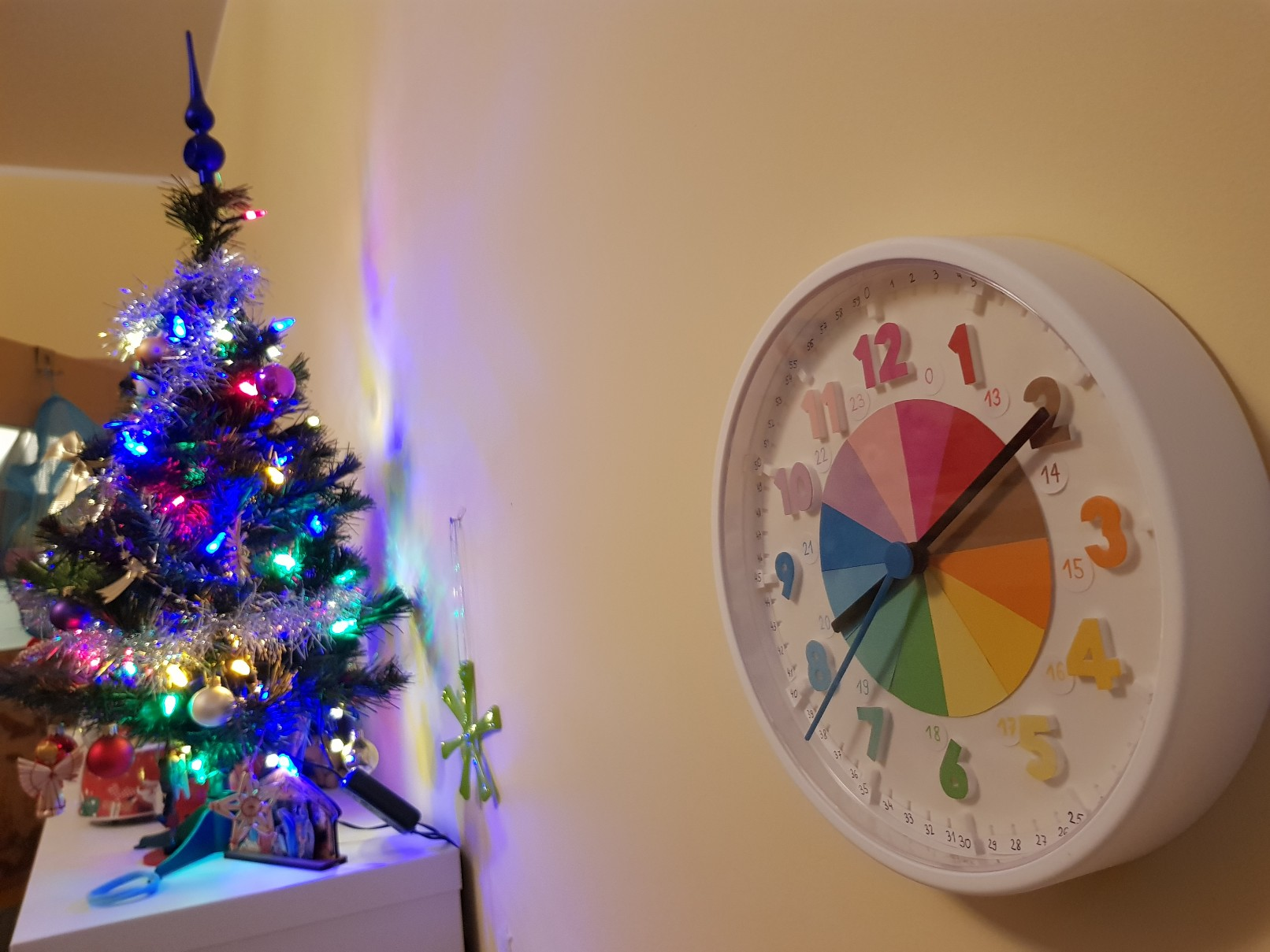 clock learning time telling christmas