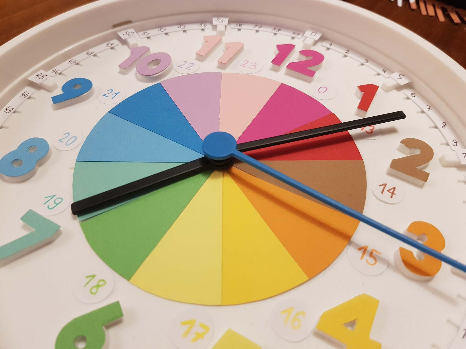 clock learning time telling detail