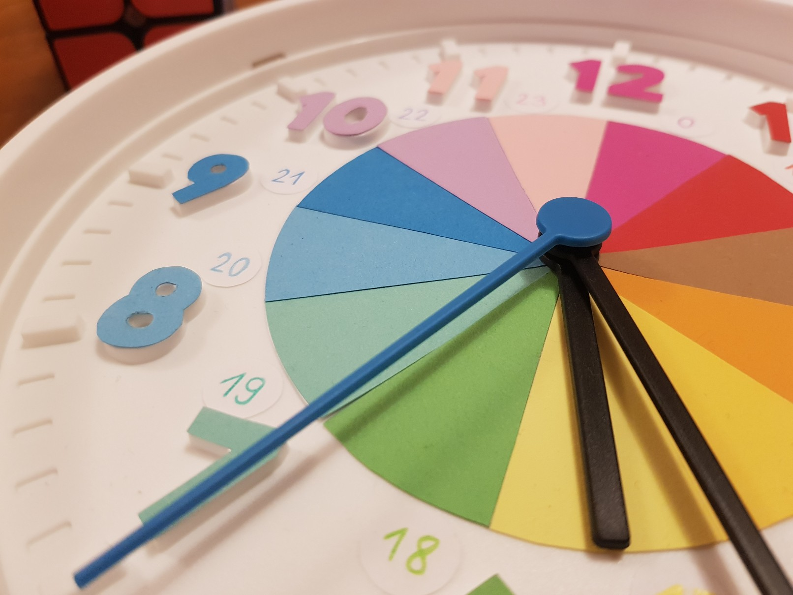 clock learning time telling hours 24 hours ready