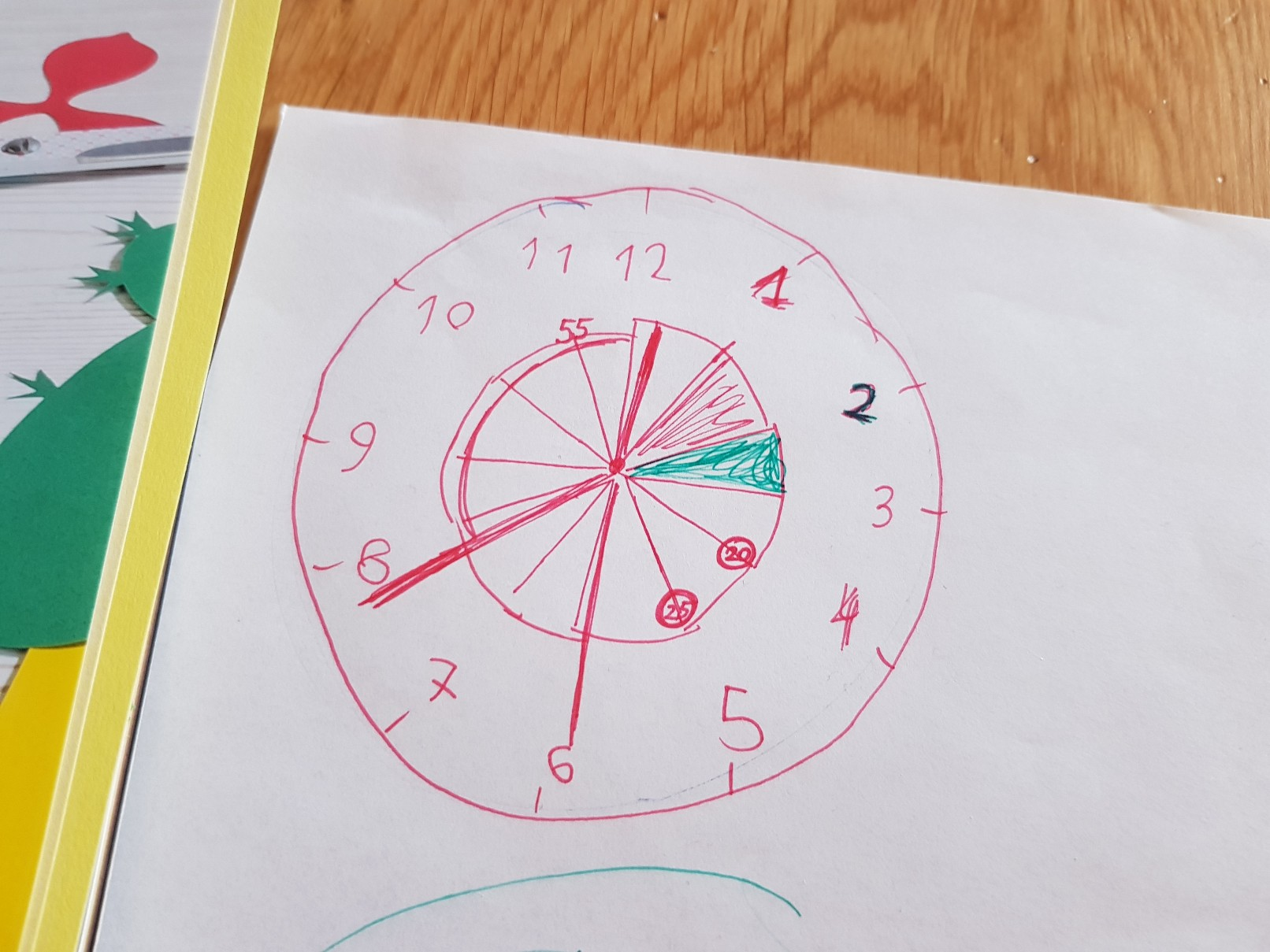 clock learning time telling project