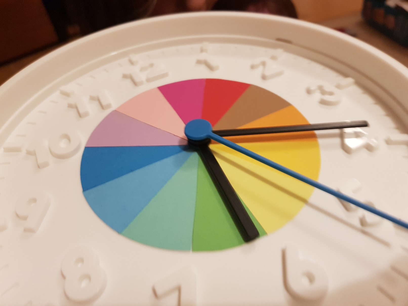 clock learning time telling rainbow inside