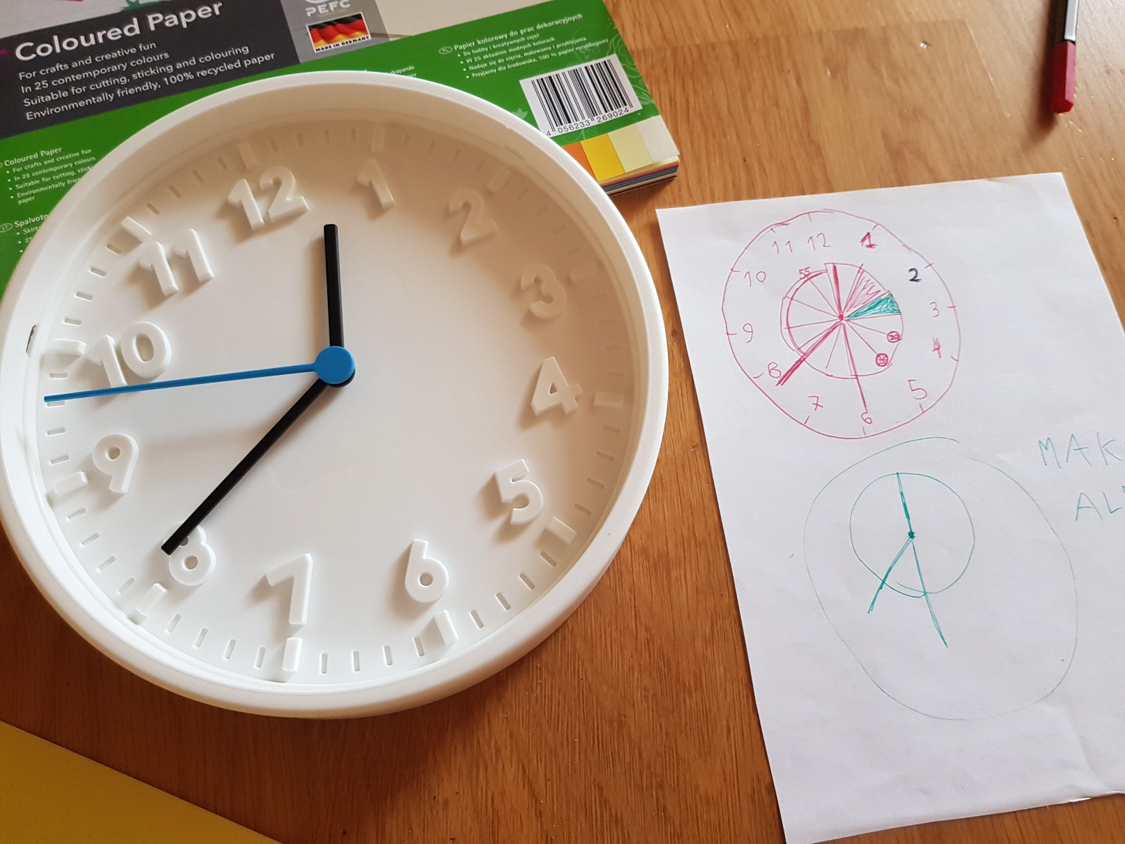 clock learning time telling
