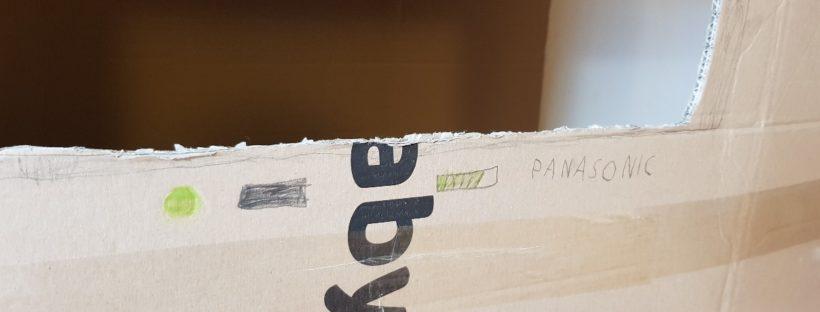 home television cardboard logo