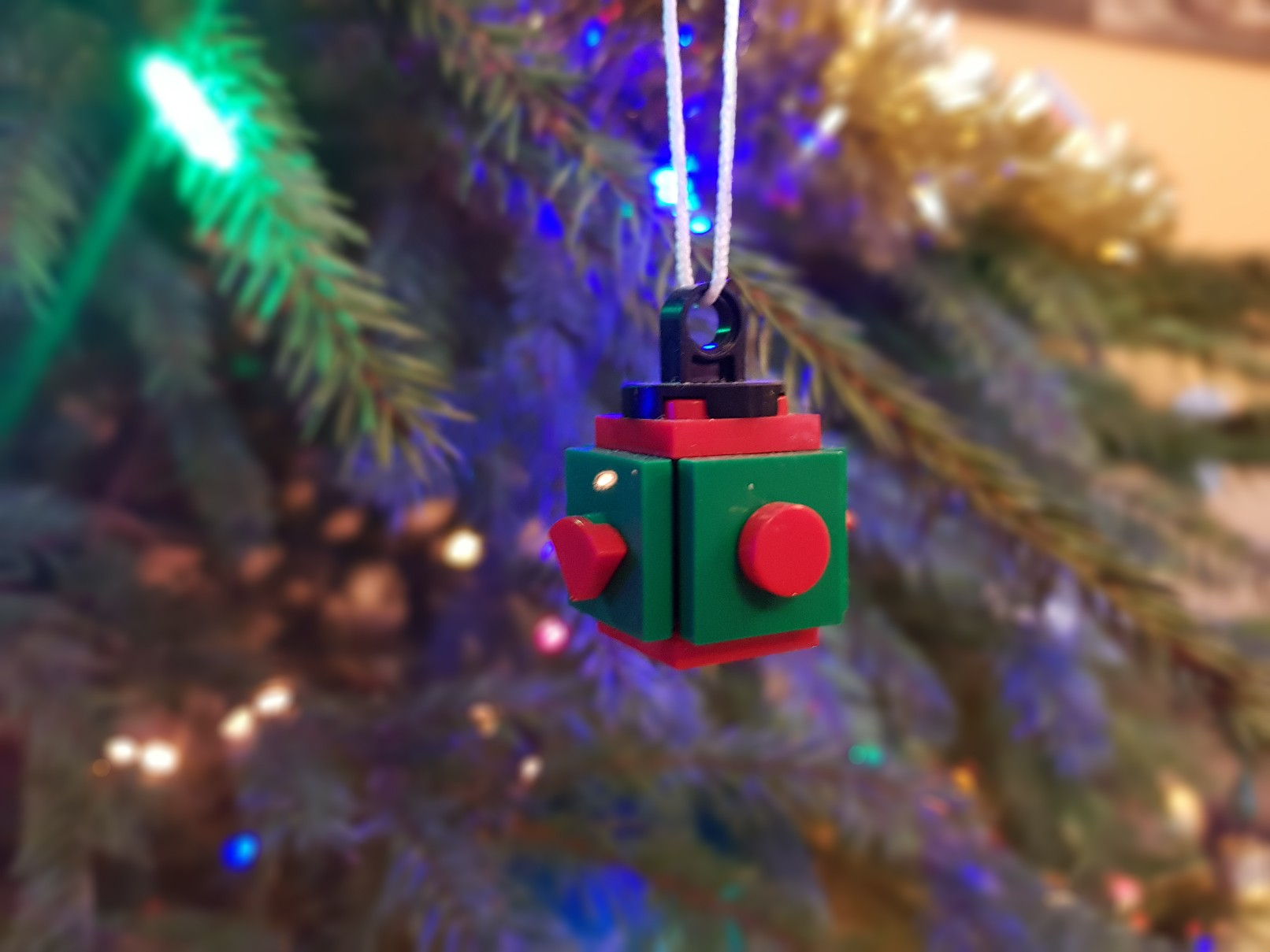 lego moc christmas baubles ornament ball small red green