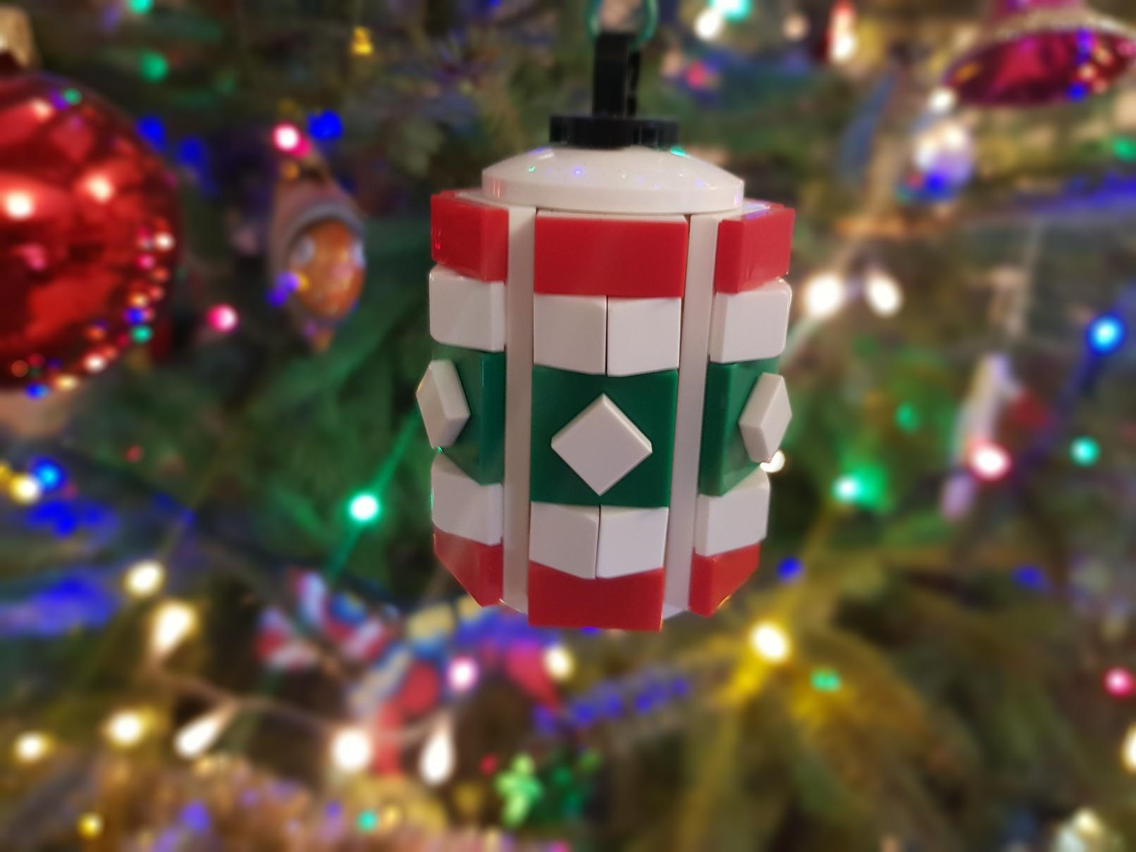 lego moc christmas baubles ornament barrel