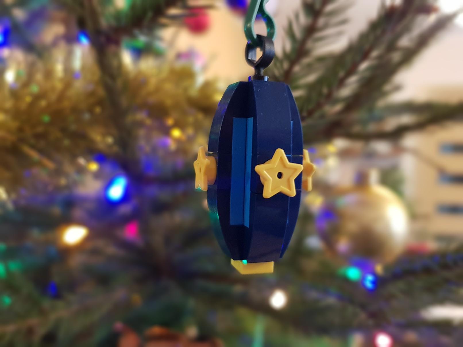 lego moc christmas baubles ornament blue