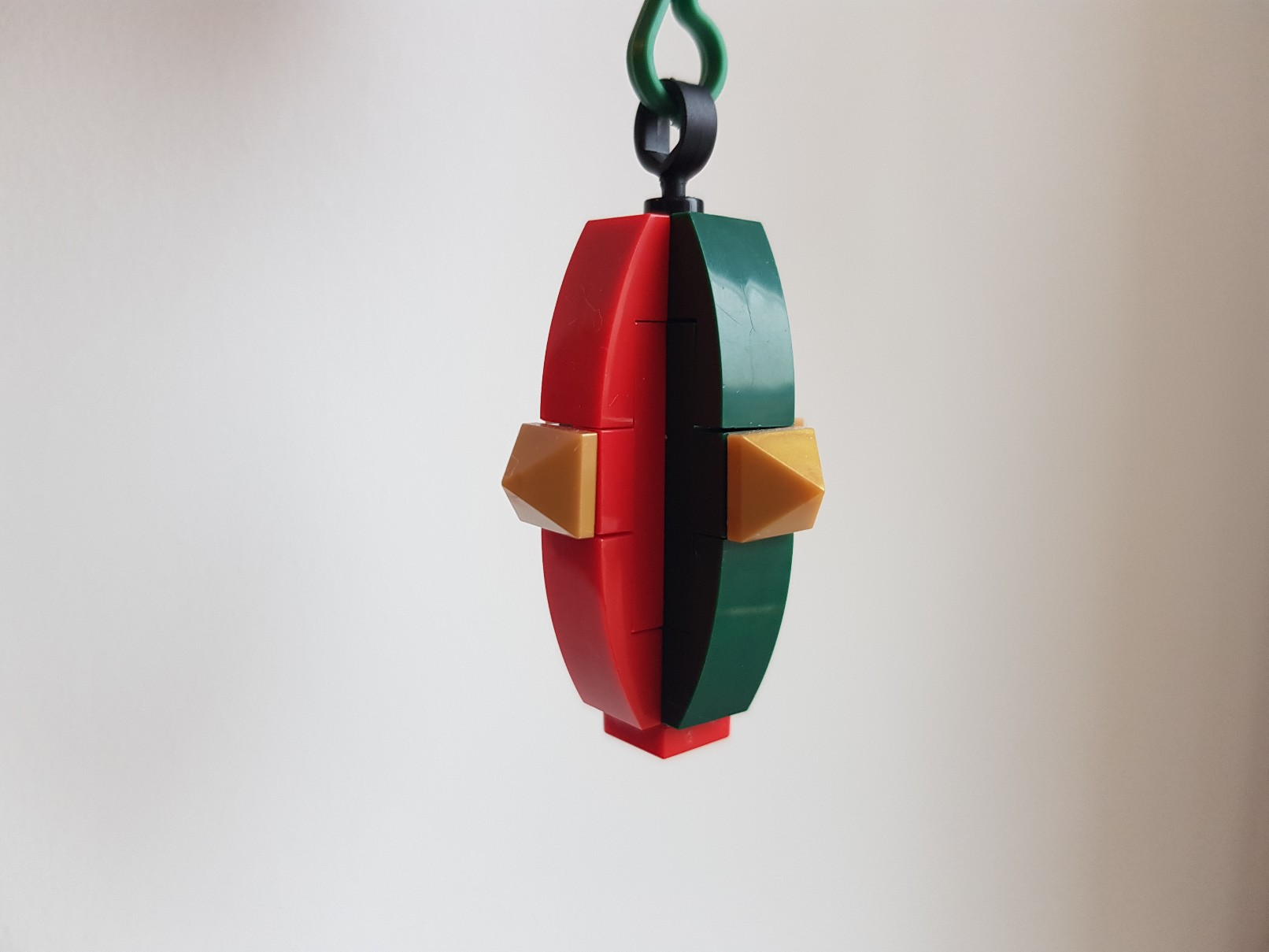 lego moc christmas baubles ornament red green gold 2