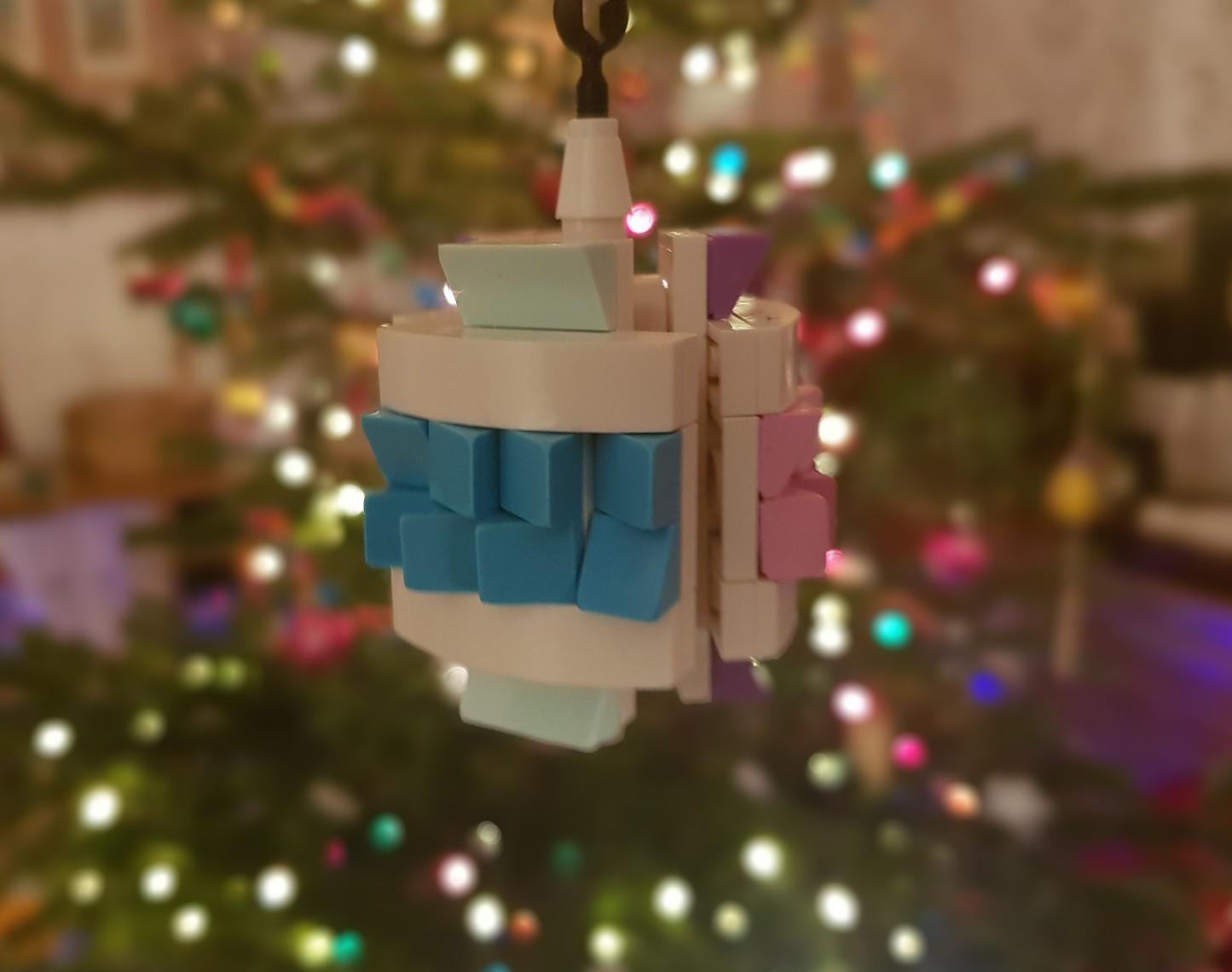 lego moc christmas baubles ornament tri frozen pink magenta