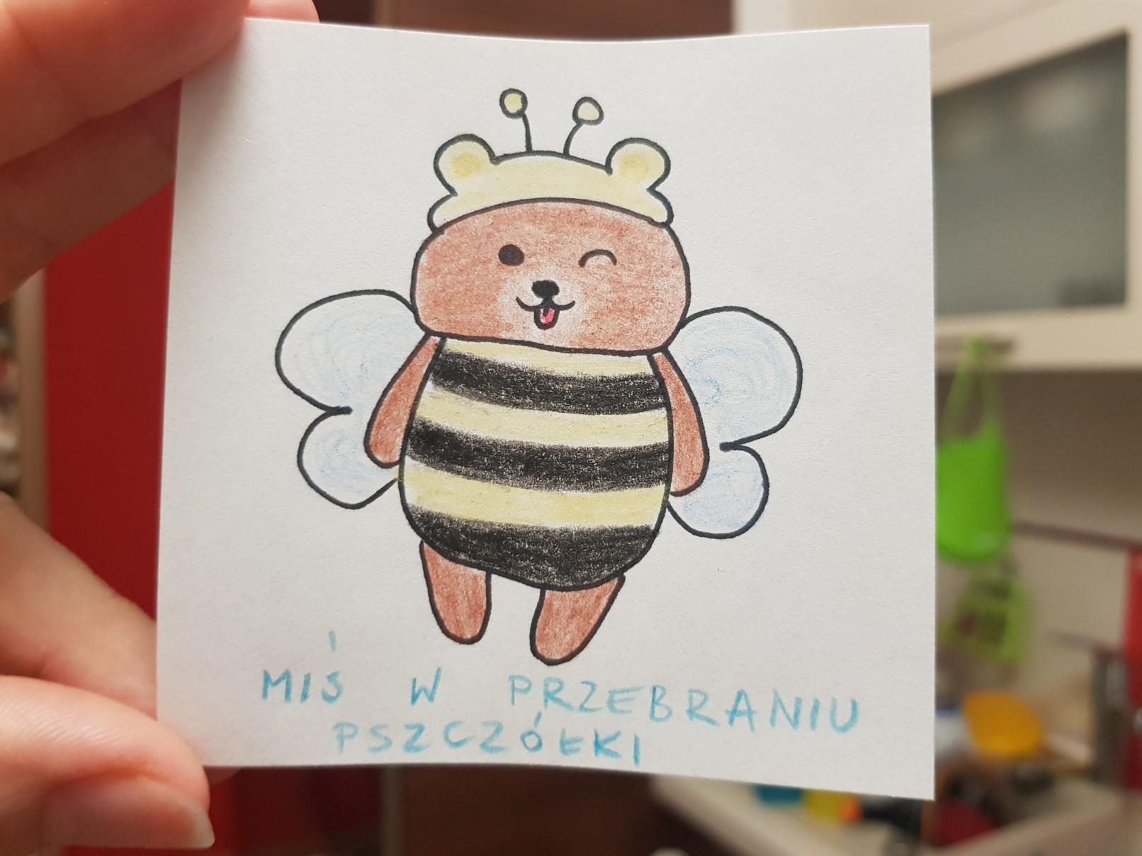 lunchbox art bear bee