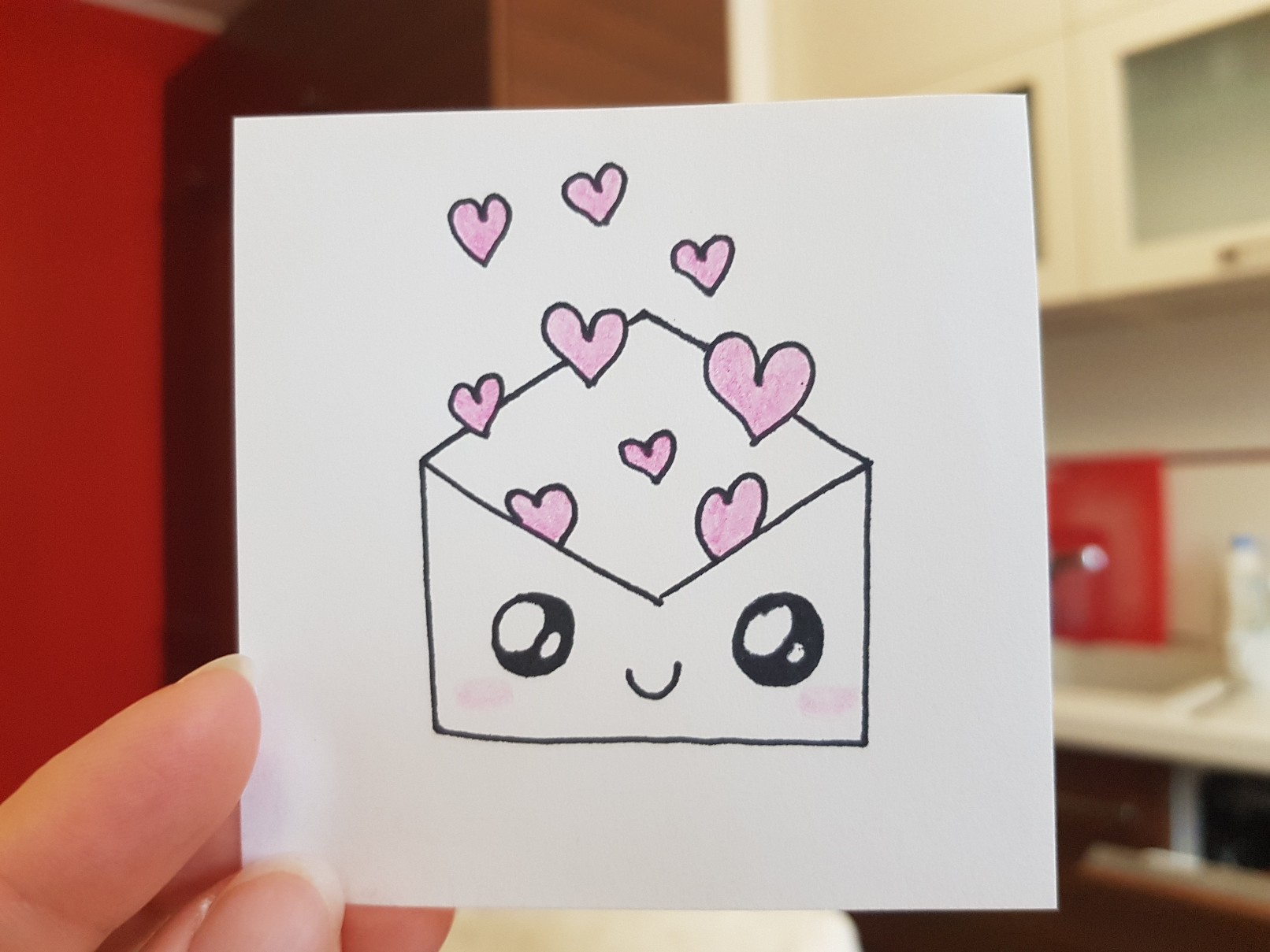 lunchbox art envelope hearts