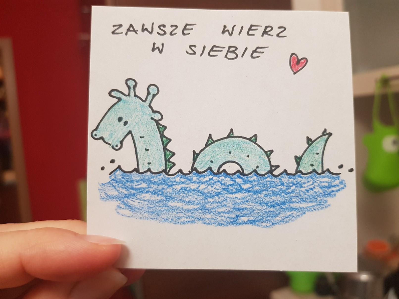 lunchbox art water monster believe