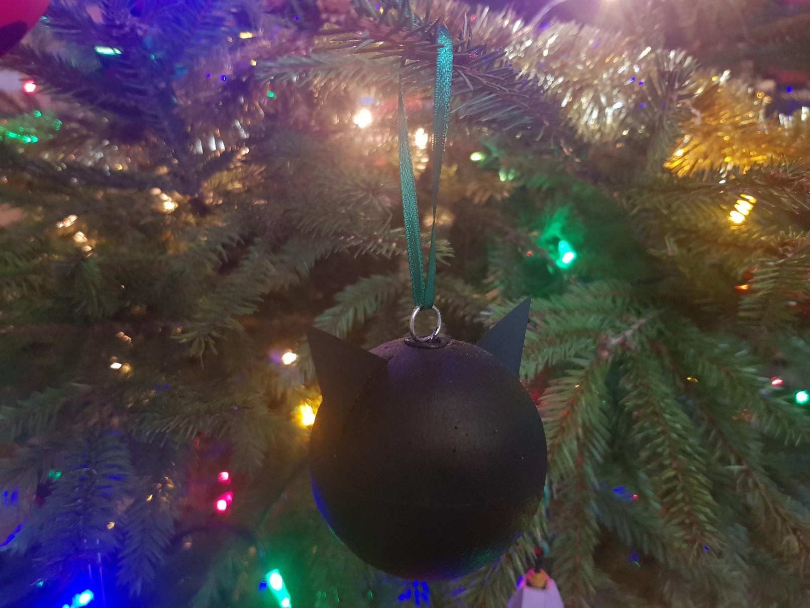 miraculous ladybug chat noir baubles black tree