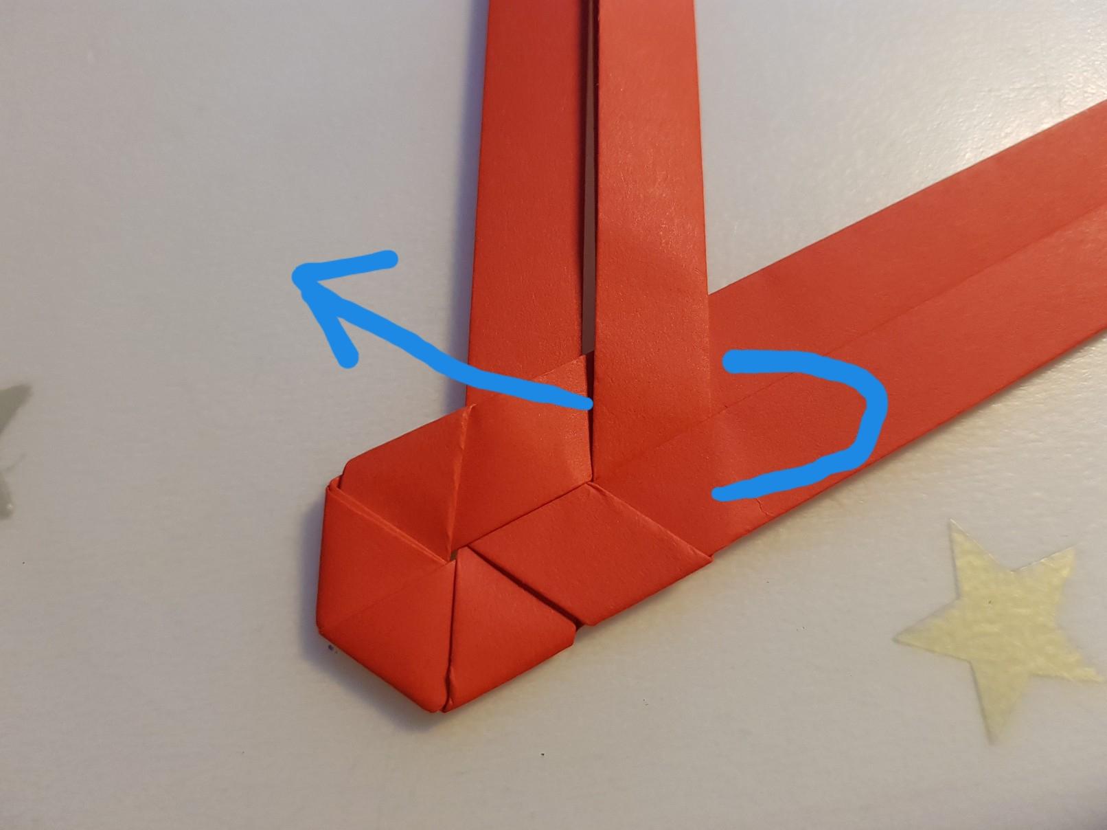 paper woven heart step 10