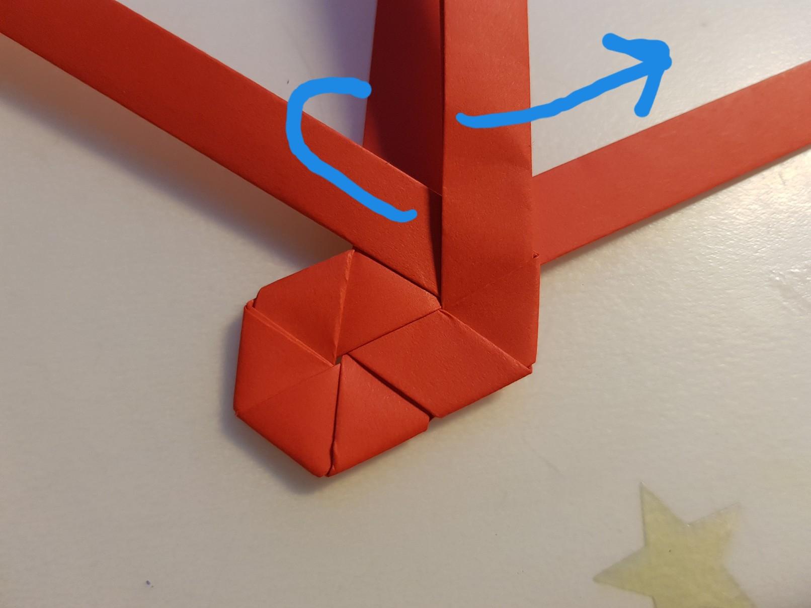 paper woven heart step 11