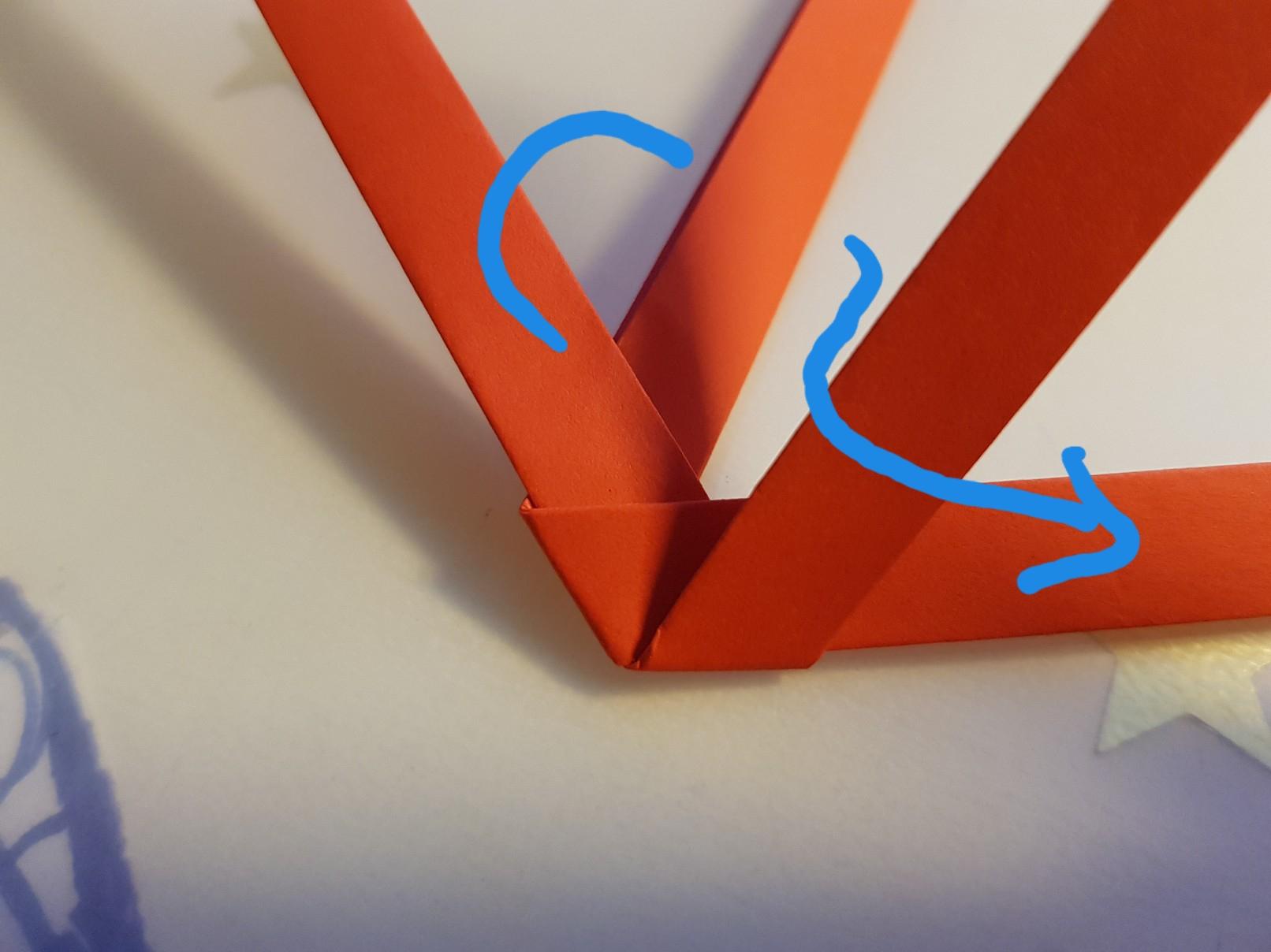 paper woven heart step 7