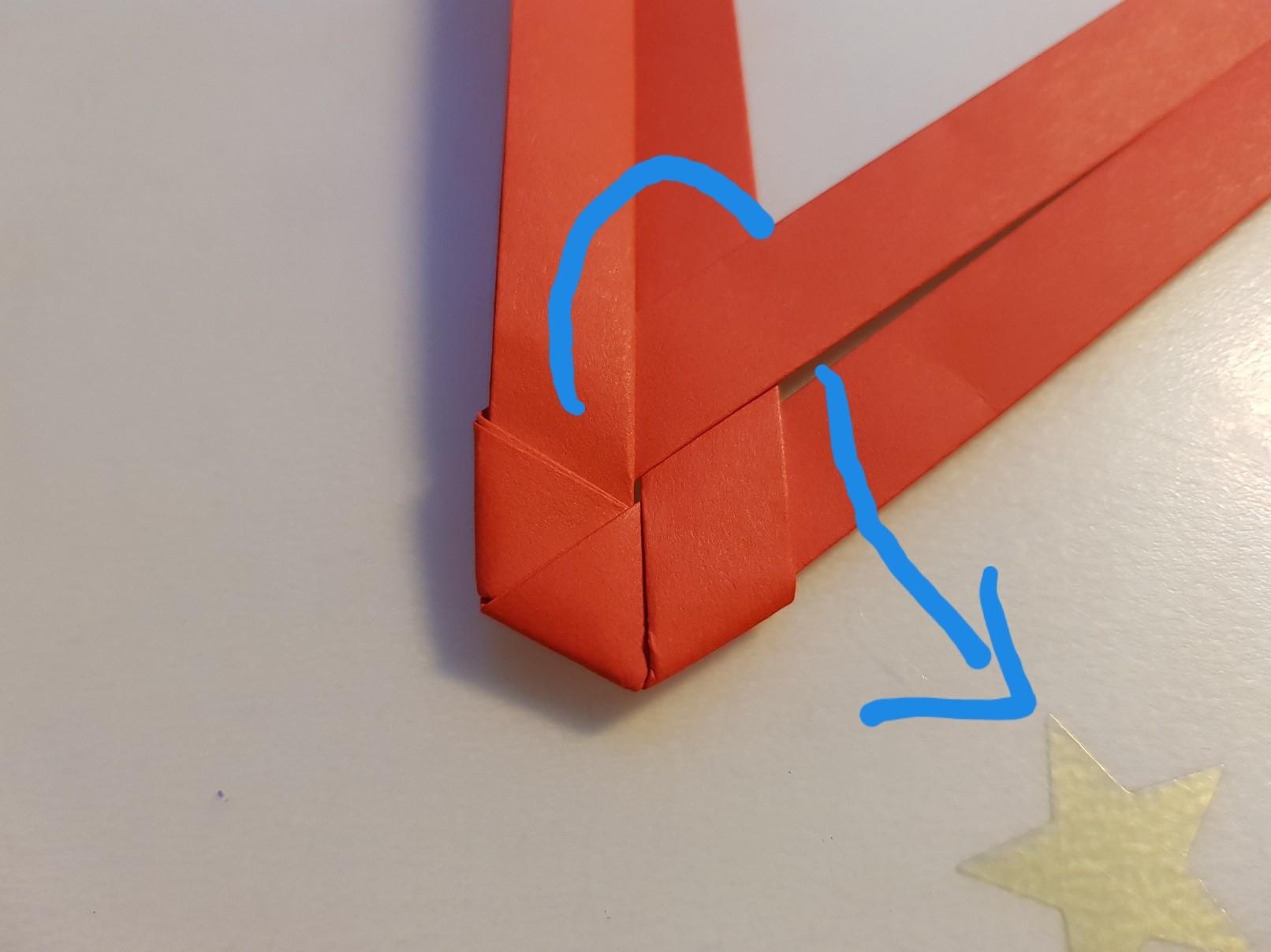 paper woven heart step 8