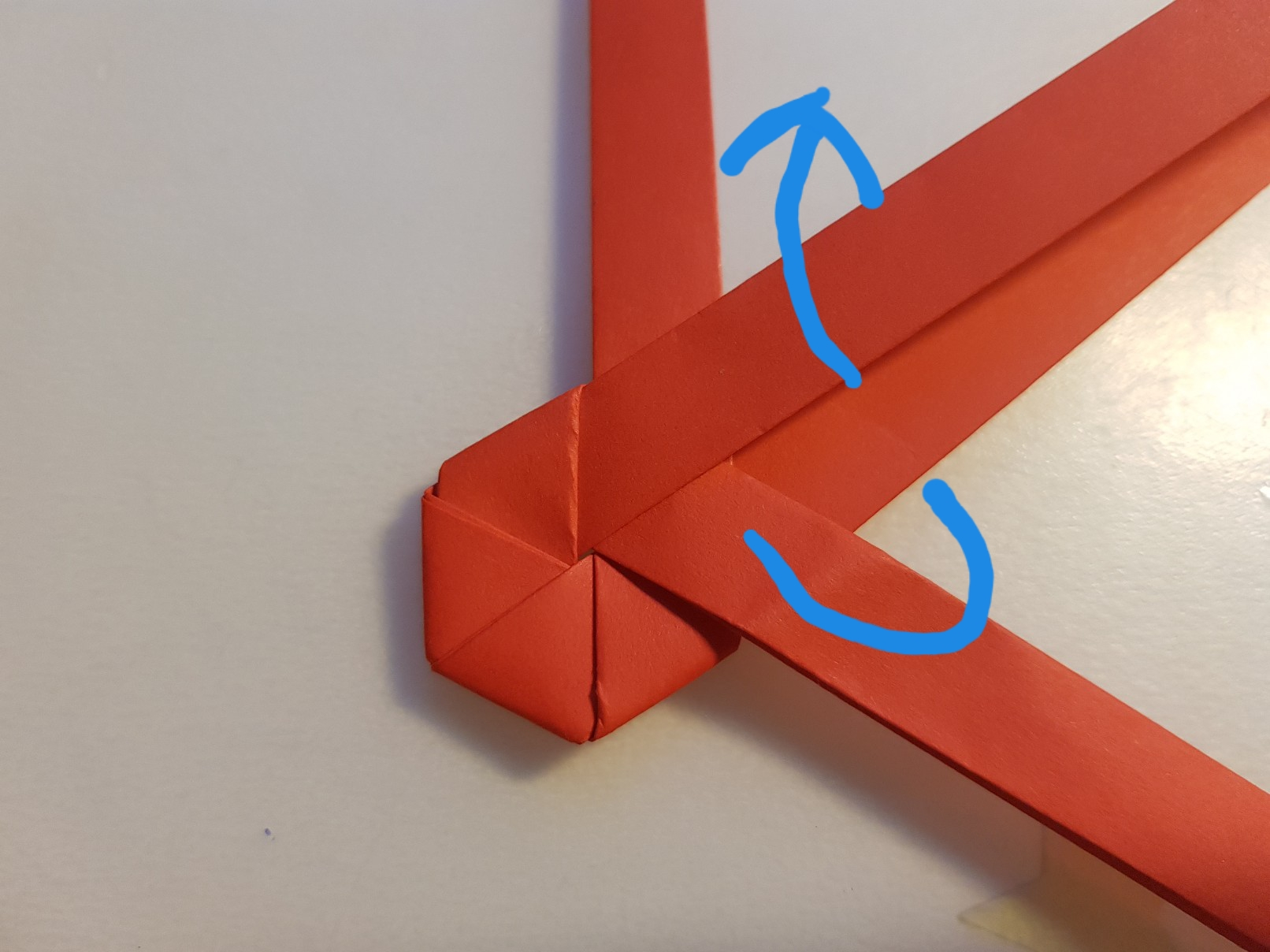 paper woven heart step 9