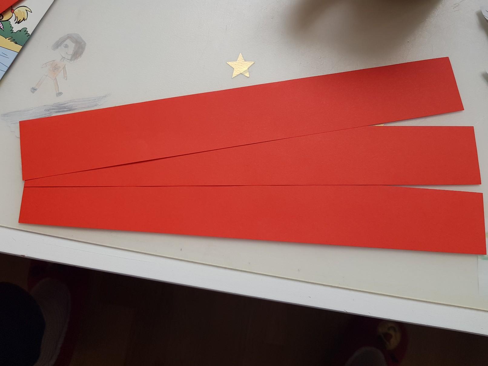 paper woven heart stripes