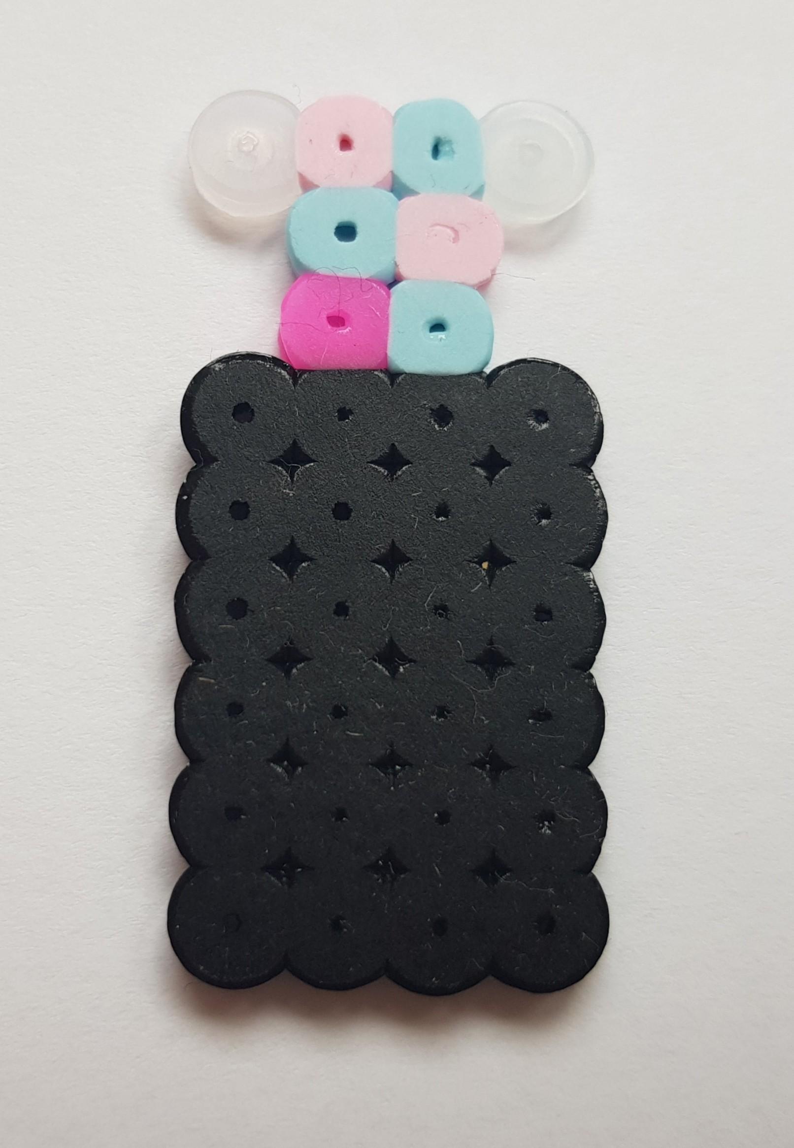 hama beads black bottle