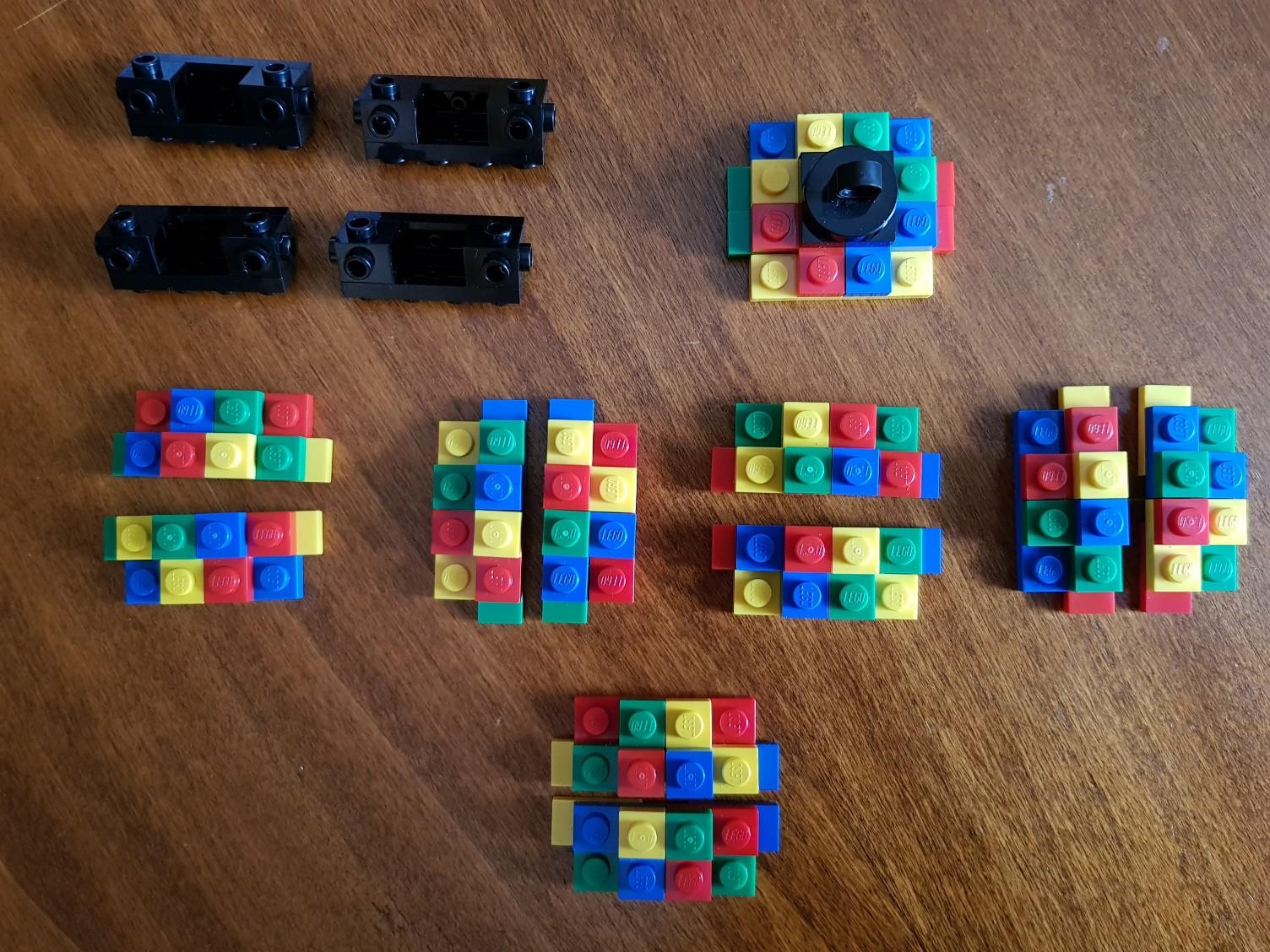 lego moc christmas baubles colorful parts