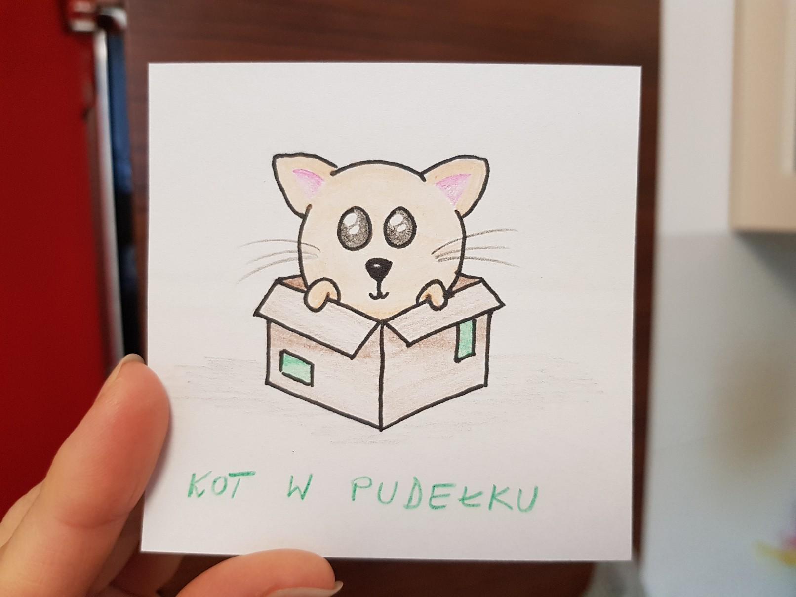 lunchbox art cat in the box