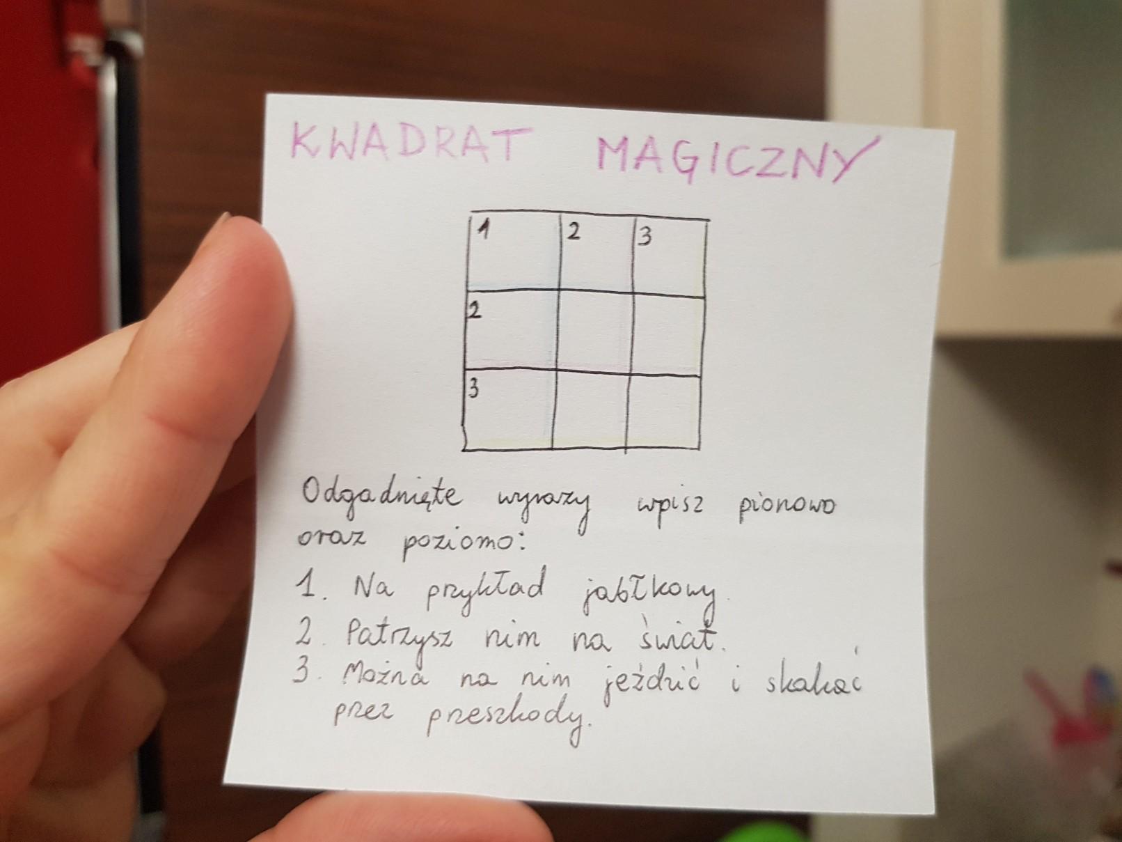 lunchbox art magic square crossword puzzle