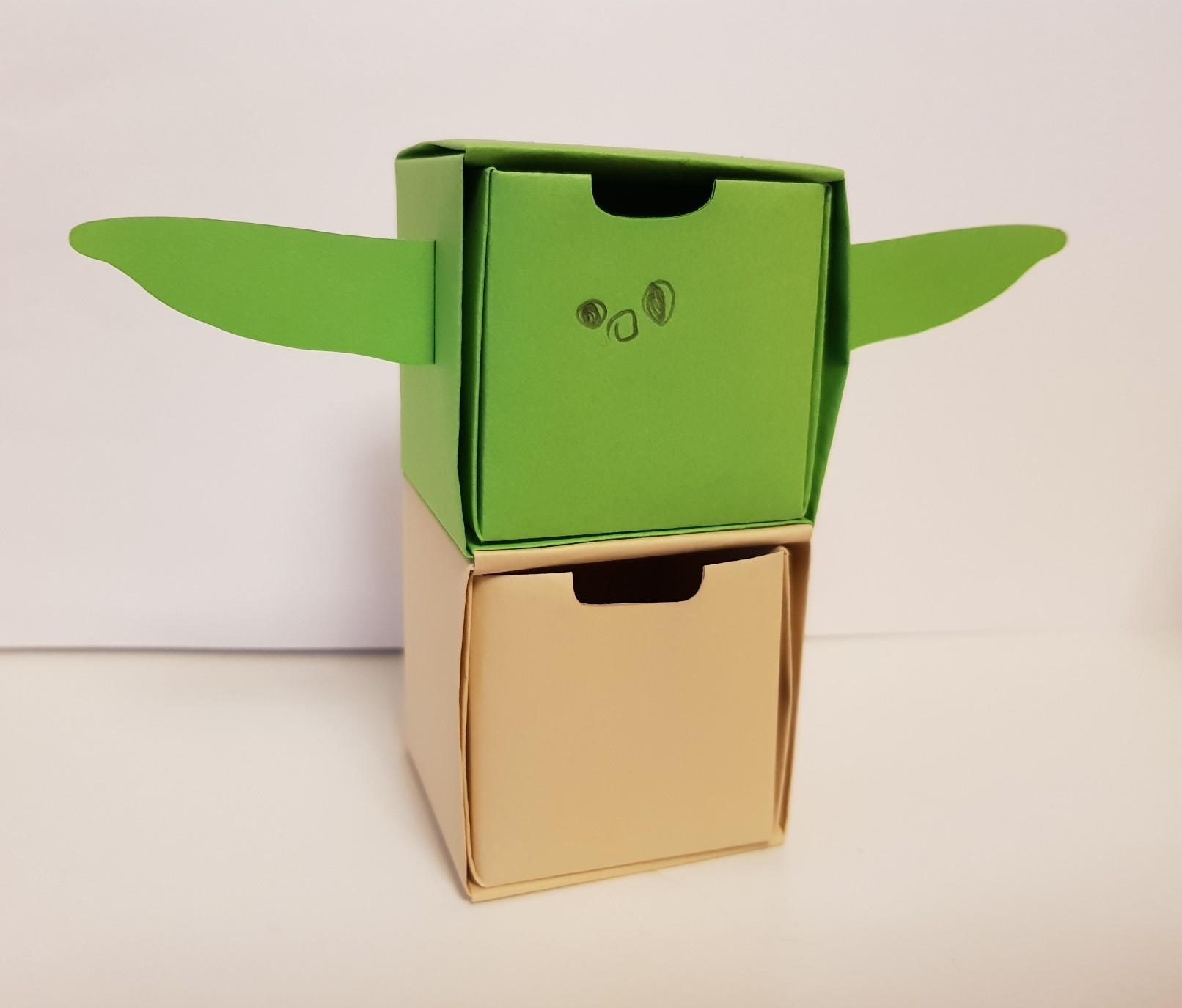 origami paper drawers baby yoda grogu mandalorian