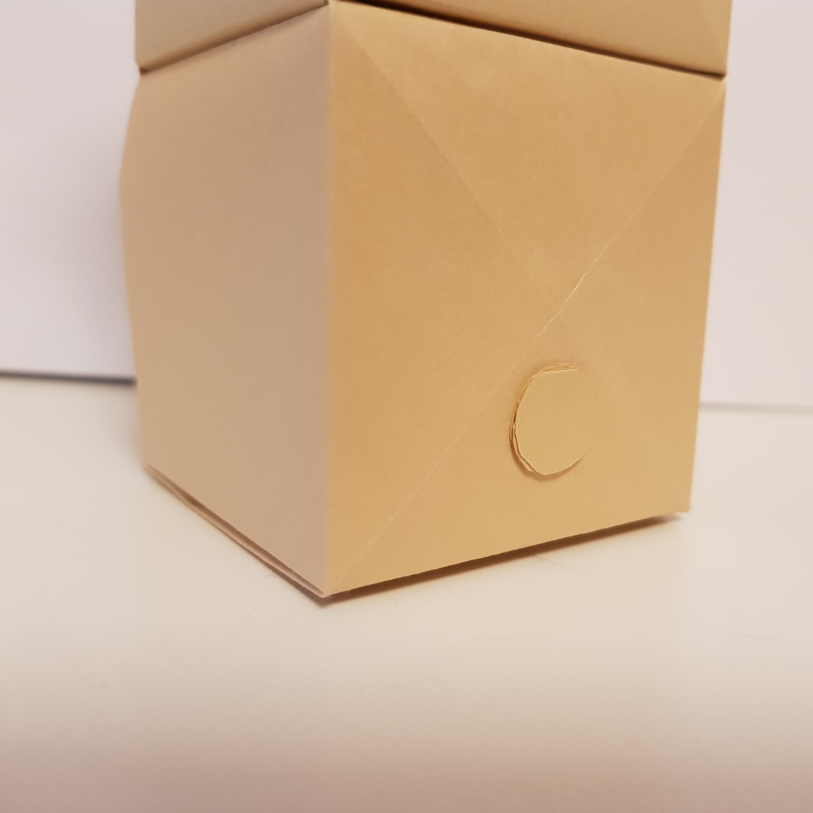 origami paper drawers bear tail